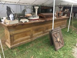 c1840 PA country store counter original yellow paint 15' 5