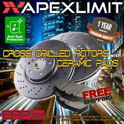 Front Drilled Rotors And Ceramic Pads For 2010-2013 Audi A3 W/ 288mm Front Rotors