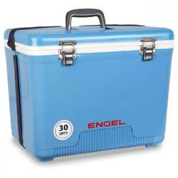 Engel 30 Qt 48 Can Leak Proof Compact Insulated Airtight Drybox Cooler Blue $69.99