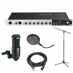 Steinberg UR824 USB Audio Interface wAT2020 Mic Boom Stand Cable Pop Filter