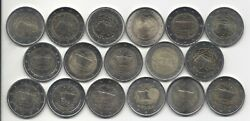 2 Eur Treaty Of Rome 13 Countries 17 Coins Complete