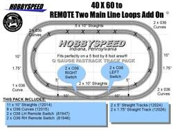 Lionel Fastrack 40x60 To 2 Remote Main Line Loop Track Pack Add On O Gauge New