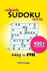 Classic Sudoku 10x10 400+ By Isolvepuzzles English Paperback Book Free Shippin