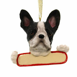 Personalized Ornaments BOSTON TERRIER Polyresin Christmas Puppy Dog 21876