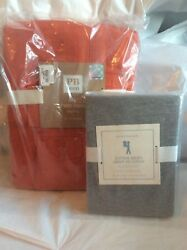 $169 Pottery Barn SET duvet +Pillowcase TWIN xl NFL Patch dorm college bed cover