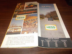 1968 Hess New Jersey Vintage Road Map
