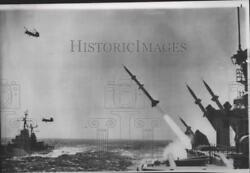 1956 Press Photo Terrier Guided Missiles - spa88401