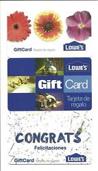 Lot 3 Different Lowe's Gift Cards No Value Collectible Lowes