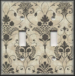 Metal Light Switch Plate Cover Vintage Design Decor French Floral Home Decor