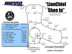 Lionel Fastrack Lionchief Shoe In Track Pack 11and039 X 12and039 O Gauge Layout New