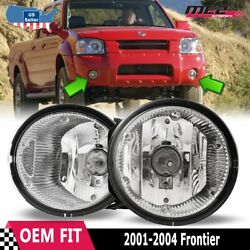 For Nissan Frontier 01-04 Factory Bumper Replacement Fit Fog Lights Clear Lens