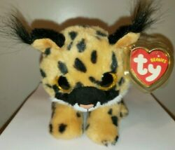 Ty Beanie Baby LARRY the Lynx Cat 6 Inch MINT with MINT TAGS