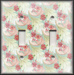 Metal Light Switch Plate Cover Nature Home Decor Floral With Leaves 01