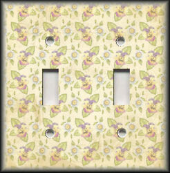 Metal Light Switch Plate Cover Pansy And Daisy Flowers Home Decor Floral Decor