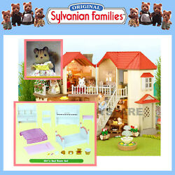 SYLVANIAN FAMILIES GIFT SET BEECHWOOD HALL DOLLHOUSE  + FURNITURE +SQUIRREL 5173