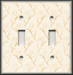 Metal Light Switch Plate Cover Cream Dogwood Floral Branches Home Decor