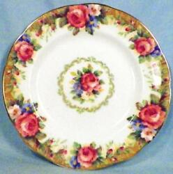 Paragon Tapestry Rose Bread And Butter Plate Porcelain Flowers Gold Trim Vintage