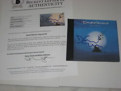 DAVID GILMOUR (Pink Floyd) Signed ON AN ISLAND CD Cover w Beckett LOA