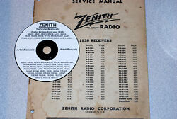 Zenith Radio 1938 Service Manual For 67 Different Models