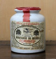 Vintage Pommery French Mustand Stoneware Pot / Jar Meaux Circa 1960 - 1970