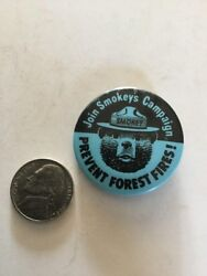 Vintage Button Pin Smokey The Bear Prevent Forest Fires Campaign Join