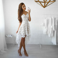 Fashion Womens Summer Sleeveless Evening Party Cocktail Short Mini Lace Dress $15.99