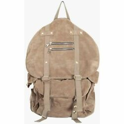 New Menand039s Balmain Suede Satchel Backpack Large Travel Bag Runway Sold Out Rare