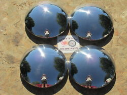 1940and039s-70and039s Hot Rod Rat Rod Smoothie Rally Wheel Baby Moon Hubcaps Set Of 4