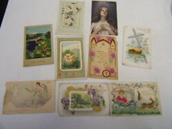Antique Easter Post Cards Circa Early 1900's Lot Of 10 Free Ship Auc