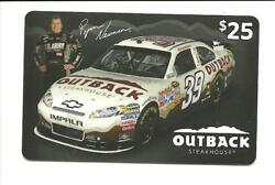Outback Steakhouse Ryan Newman Us Army Gift Card No Value Collectible