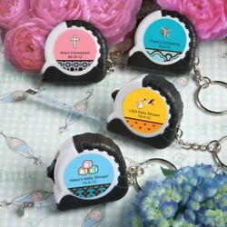 100 Personalized Key Chain- Mini Measuring Tapes Baby Shower Christening Favors