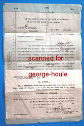 RUDOLPH VALENTINO - DIVORCE  PAPERS --  JEAN ACKER -      1923 -
