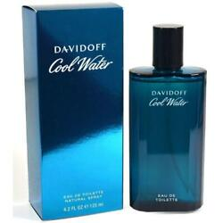 Cool Water Cologne By Davidoff 4.2 Oz Men Edt New In Box