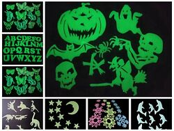 2 Sets Glow In The Dark Decorations Wall Stickers Removable Kids Various Style