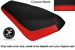 Black And Red Automotive Vinyl Custom Fits Suzuki Ap 50 Scooter Dual Seat Cover