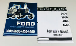 Ford 2600 3600 4100 4600 Tractor Operators Owners Manual + Supplement Manual Set