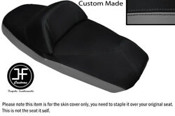 Grey And Black Vinyl Custom Fits Sym Voyager Gts 125 250 300 Dual Seat Cover Only
