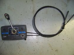 Clean Used Mercury Outboard Side Mount Control Box TRIM SWITCH & KEY 10' Cables