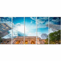 'New York Public Library' 5 Piece Photographic Print on Wrapped Canvas Set
