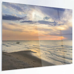 Design Art 'Calm Sunset in Thailand Beach' Photographic Print on Metal