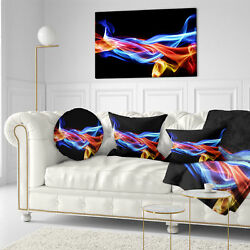 East Urban Home Abstract Fire and Ice Design Abstract Throw Pillow