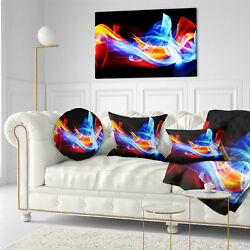 East Urban Home Abstract Fire and Ice Throw Pillow