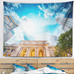 East Urban Home Cityscape New York Public Library Tapestry and Wall Hanging