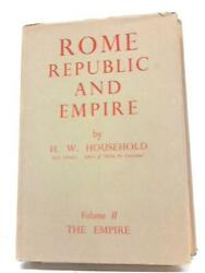 Rome Republic And Empire Volume Two The Empire H W Household - 1938 Id64070