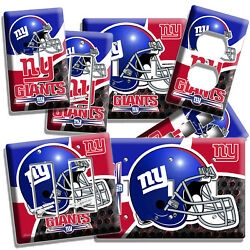 NEW YORK GIANTS NY FOOTBALL TEAM LIGHT SWITCH OUTLET WALL PLATES MAN CAVE DECOR