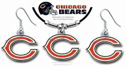 Chicago Bears Necklace And Earrings Set - Jewelry Nfl Football - Free Ship Bl'