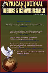 Challenges Of Enterprise-driven Economic Growth In Africa African Journal Of B
