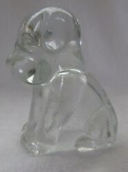 DEGENHART GLASS DOG POOCH POOCHE CRYSTAL TINTED D IN HEART $14.99