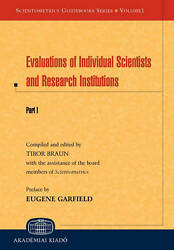 Evaluations Of Individual Scientists And Research Institutions. Part I. Sciento
