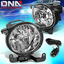 For 03-06 Rb 4dr Accent Chrome Clear Lens Pair Halo Fog Light Lamp+bulb+switch